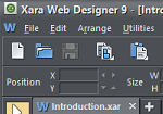 Screenshot of Xara Web Designer v9