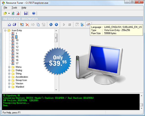Resource Tuner 1.99 R6 (2009)
