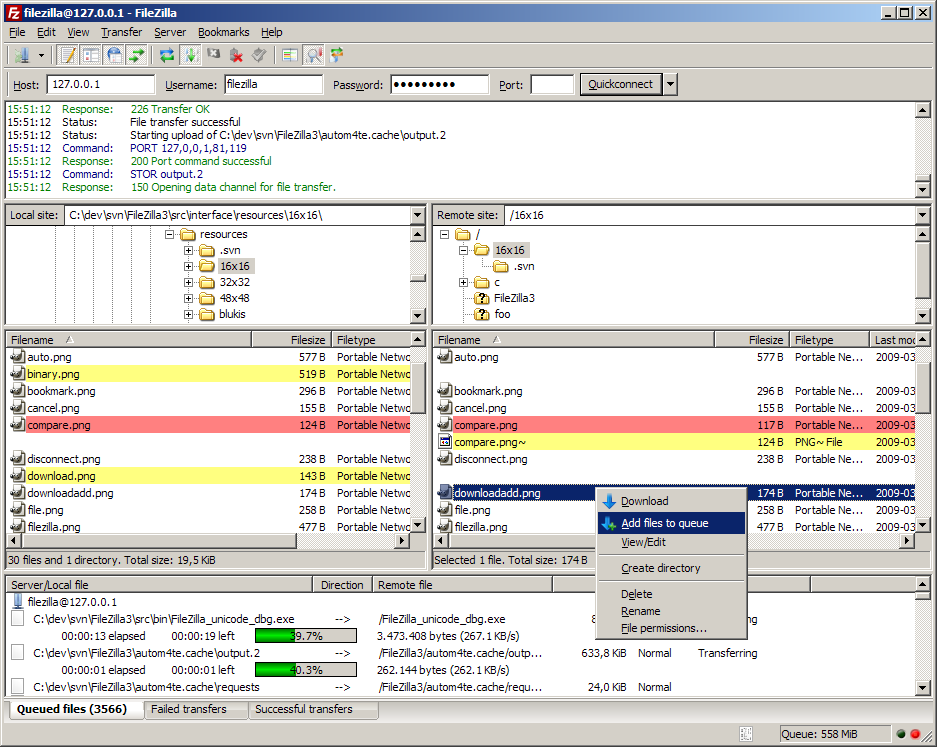 FileZilla v3 for Windows