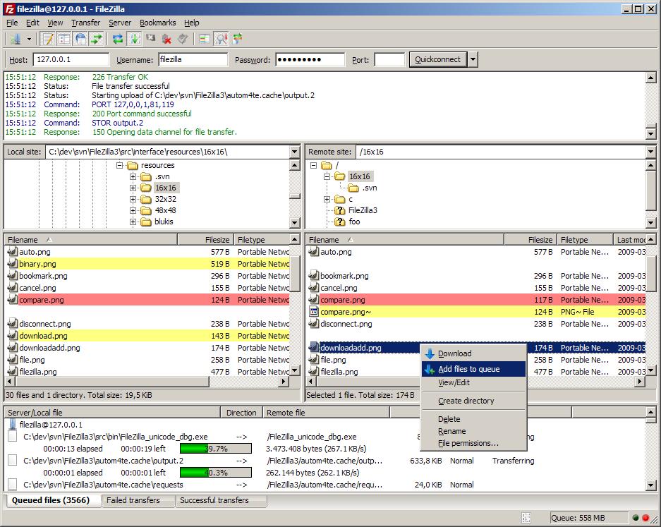 FileZilla v3 for Windows (64-bit)
