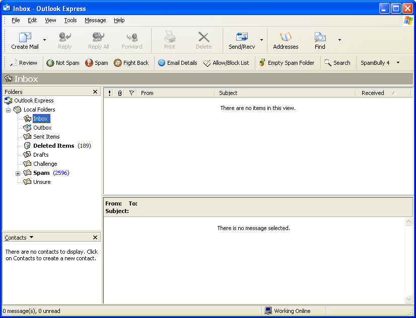 Spam Bully for Outlook Express