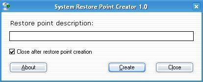 Restore Point Creator
