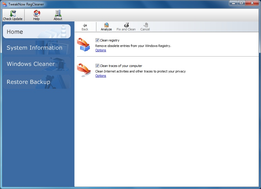 TweakNow RegCleaner Free Download and Reviews - Fileforum