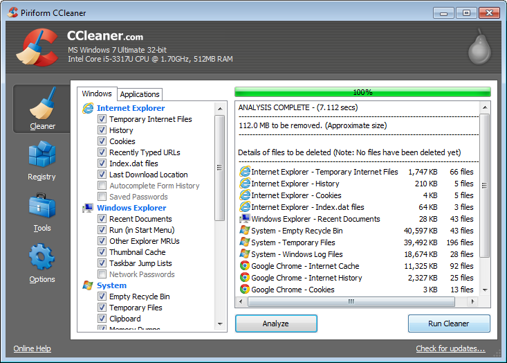 CCleaner for Windows Free Download and Reviews - Fileforum