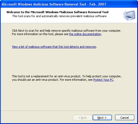 Microsoft Malicious Software Removal Tool (x86)
