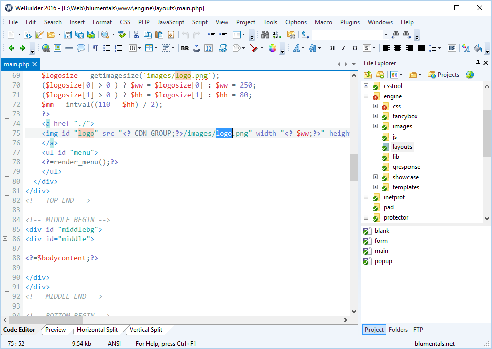 html source code projects free download