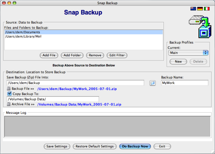 Snap Backup for Windows