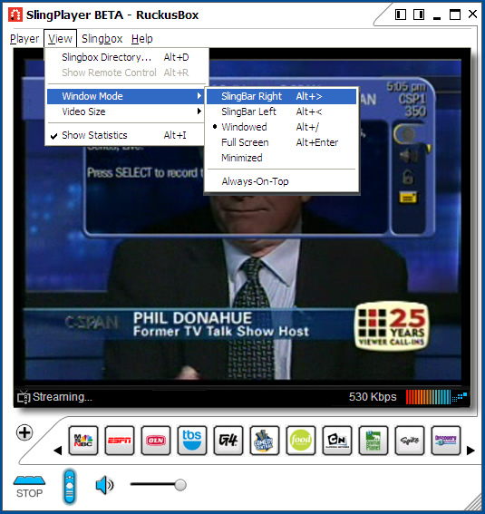 Slingplayer for web