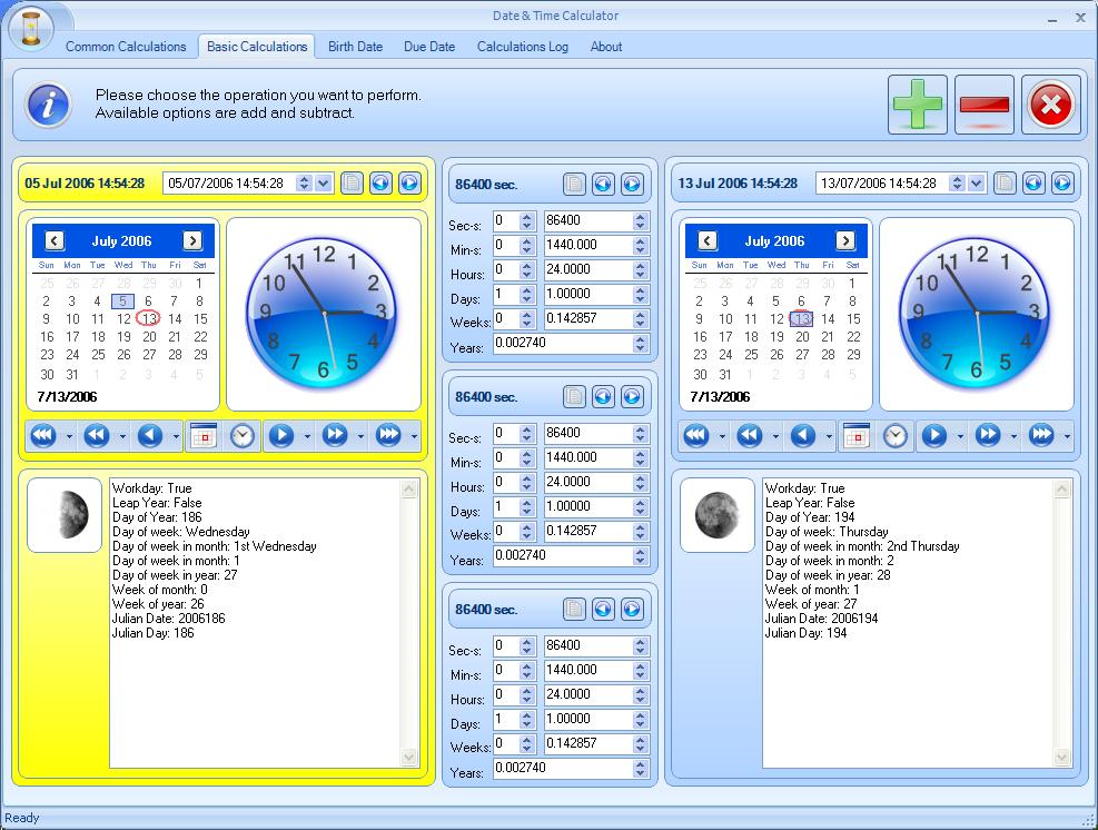 Date Duration Calculator 1.0 Screenshot - Freeware Files.com