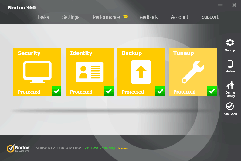 Norton Security with Backup (formerly Norton 360)