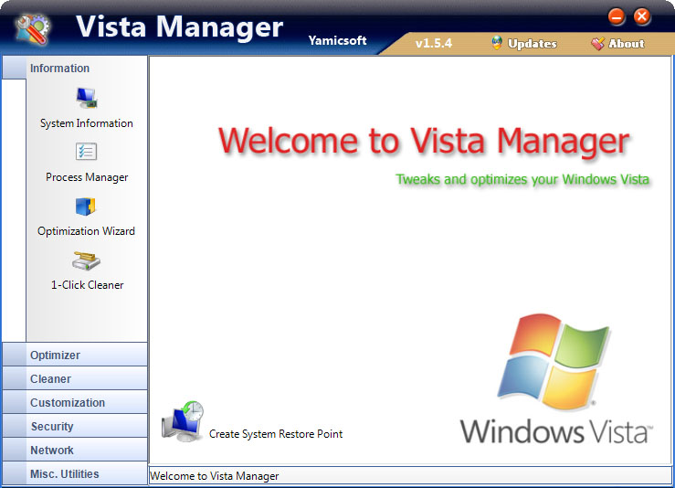 Yamicsoft Vista Manager 3.0.5 x64