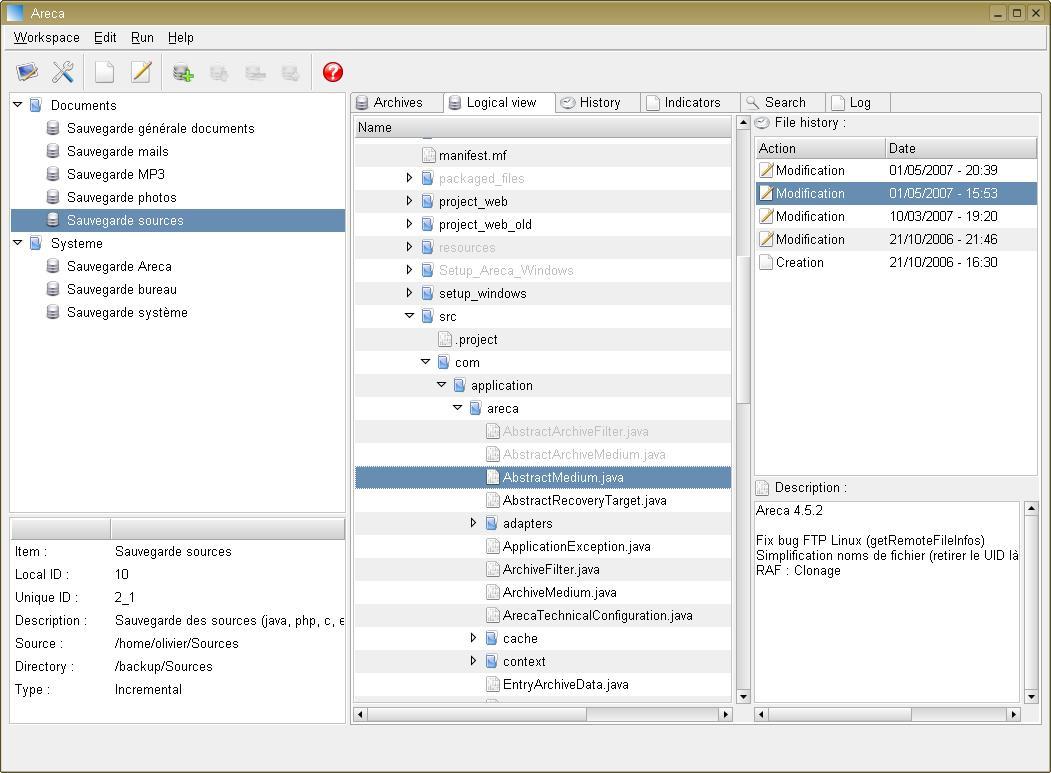 Areca Backup for Windows