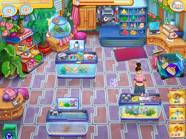 Screenshots of Jennys Fish Shop.