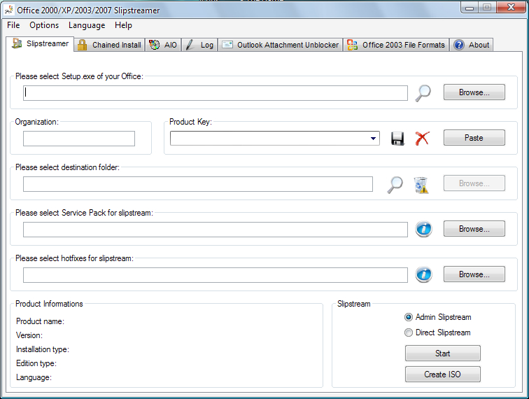 office 2000  xp  2003  2007 slipstreamer free download and