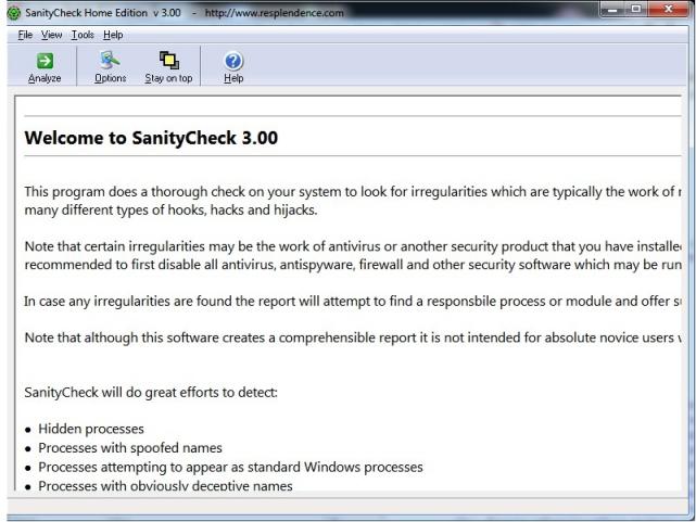 SanityCheck