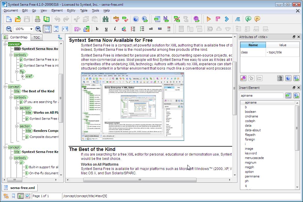 Serna Xml Editor