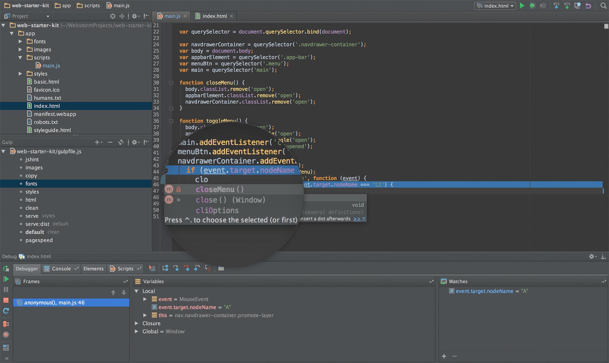 JetBrains WebStorm 1.0.2 Linux