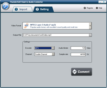 ThunderSoft Flash to Audio Converter