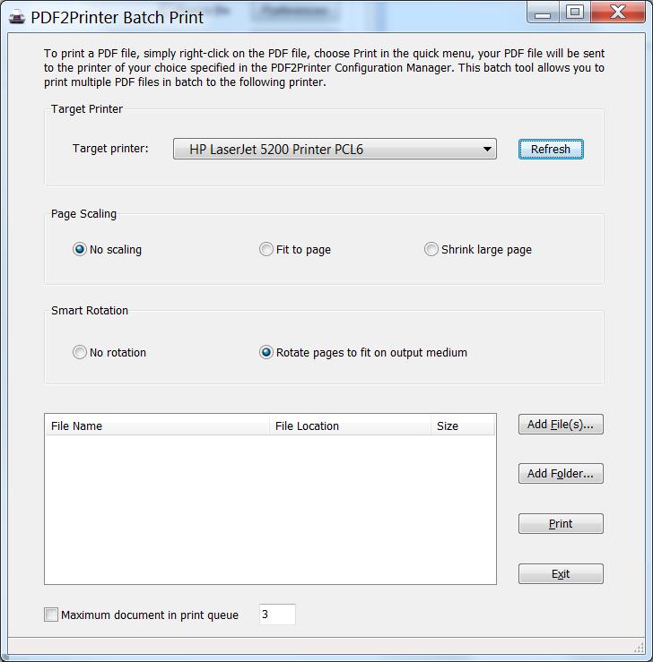 PDF2Printer
