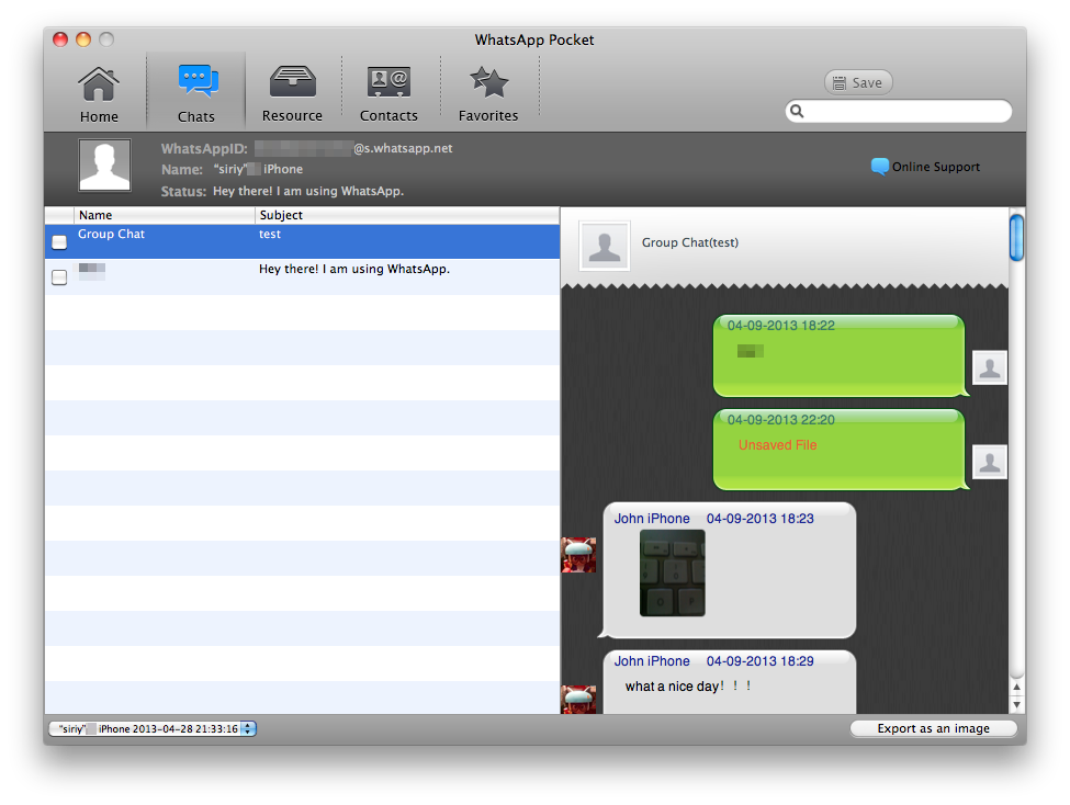 WhatsApp Pocket for Mac OS X