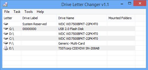 Drive Letter Changer