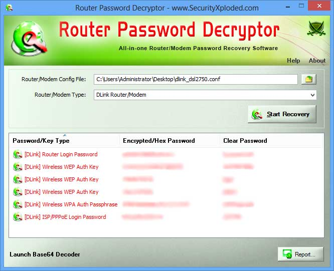 Router Password Decryptor