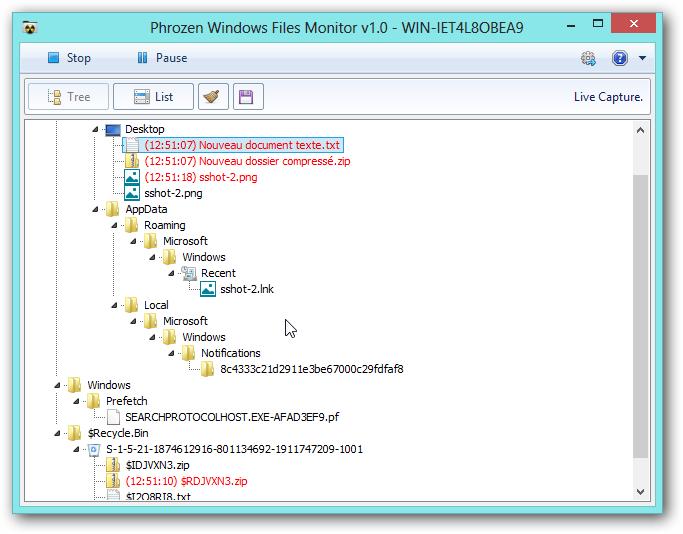 Phrozen Windows File Monitor
