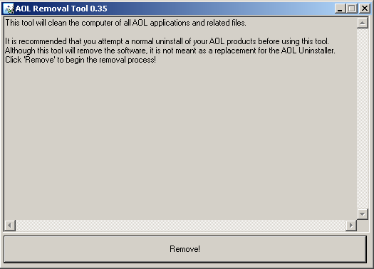 AOL Removal Tool