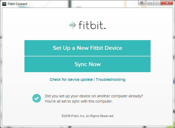 Fitbit Connect for Windows