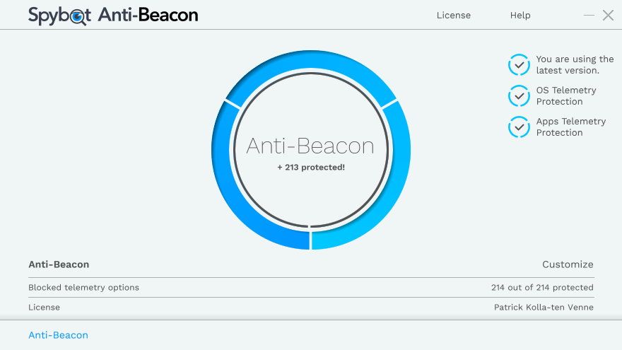 Spybot Anti-Beacon for Windows 10