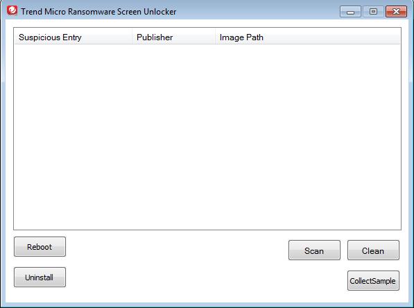 Trend Micro Ransomware Screen Unlocker Tool