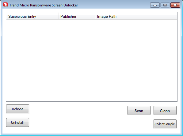 Trend Micro Ransomware Screen Unlocker Tool for USB