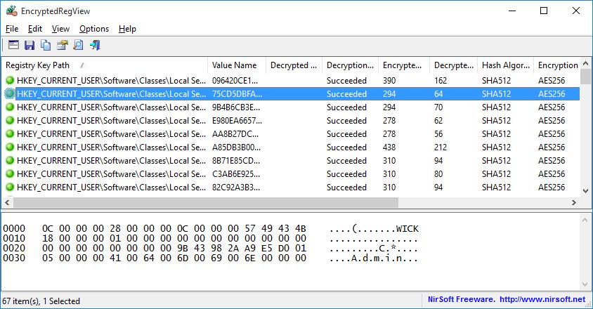 EncryptedRegView (64-bit)
