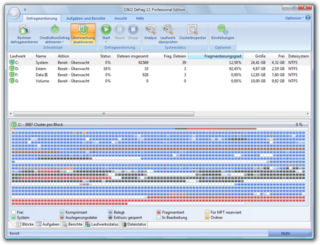 OO Defrag Professional Edition 8.0.1398