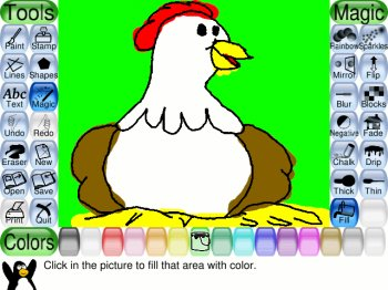 Tux paint for linux free download and reviews fileforum Paint for linux