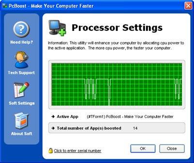 برنامج تسريع الالعاب والتطبيقات في النظام PcBoost 4.7.30.2012